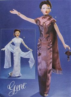 GENE Doll Clothes Sewing Pattern UNCUT Vogue 7106 evening dress