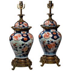 Pair of Japanese Imari Vase Lamps 1