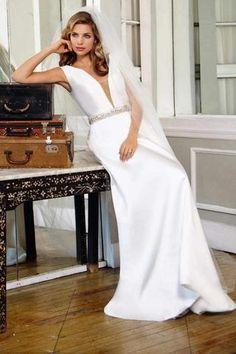 Satin Sleeveless Bridal Dress 22632