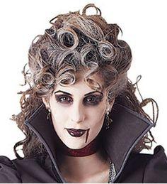 Costumes! Halloween Horror Victorian Vampire Banshee Costume Wig #BAC #Vampire