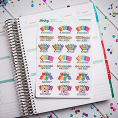 Planner Addict #PlannerAddict Planner Stickers by Lillie Henry! Set of 22 stickers featuring hand drawn artwork by Lillie Henry!