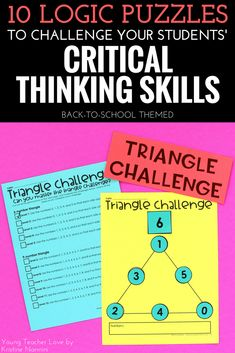 10 Logic Puzzles to Challenge Your Students' Critical Thinking Skills - Young Teacher Love by Kristine Nannini - Check out all these great logic puzzle ideas for your or grade upper elementary or middle school students. 4th Grade Classroom, Middle School Classroom, Logic And Critical Thinking, Classroom Procedures, Classroom Ideas, Teacher Organization, Organized Teacher, Math Challenge, Logic Puzzles