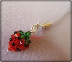 Beadtales Stories beads: Strawberry crystal bead pendant. (Translation option on right sidebar)