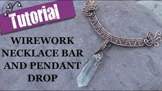 Wirework Necklace Bar and Pendant Drop - Wire Wrapping Tutorial. Learn how to make this elegant wirework necklace bar and pendant drop in my step-by-step wire wrapping tutorial. Wire Pendant, Wire Wrapped Pendant, Wire Wrapped Jewelry, Metal Jewelry, Clay Jewelry, Wire Tutorials, Jewelry Making Tutorials, Jewelry Making Beads, Beading Tutorials