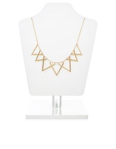 Moving Triangles Statement Necklace | Gold | Accessorize