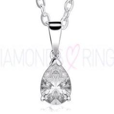 Pear shaped diamond pendant @ www.diamondsandrings.co.uk