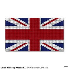 Union Jack Flag Mosaic Effect United Kingdom Double-Sided Standard Business Cards (Pack Of 100)