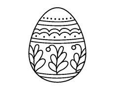 Dibujo de Huevo de Pascua mandala para colorear