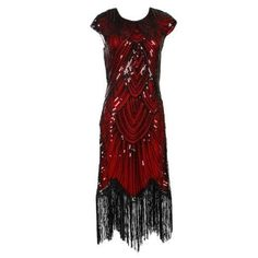 Flapper Dress – Black And Red / 14 It's holiday time which means time for the best Great Gatsby flapper dress. This stunning dress is great for hostessing or attending any party or event. Dress is made from stretchy fabric covered in sequins, round neck, cap sleeves and a fringed hem that falls just below … Flapper Dress – Black And Red / 14 yazısı ilk önce Party üzerinde ortaya çıktı.