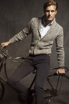love the sweater. a polished gentleman