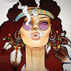 Unknown Boho Sista art.... would love to know whose talent this is!!!