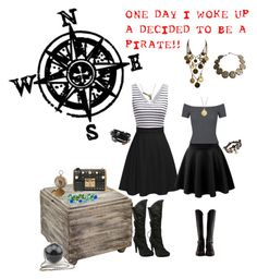 Arrr Matey! by airrazor23 on Polyvore featuring polyvore Miss Selfridge Ellie Proenza Schouler Gucci Yves Saint Laurent Alexis Bittar Bling Jewelry Argento Vivo Blue La Rue C.R.A.F.T. Disney Couture fashion style clothing