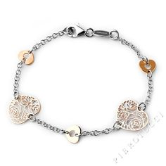 Nomination Bracelet, Style ROSA in sterling silver and pink gold