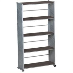 Mayline Eastwinds Five Shelf Bookcase ($175) ❤ liked on Polyvore featuring home, furniture, storage & shelves, bookcases, black, book shelves, 5 tier bookcase, black 5 shelf bookcase, 5 shelf book case and 5 tier shelf