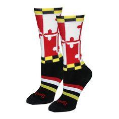Lax Maryland Flag Socks
