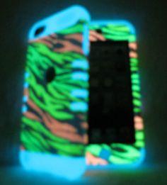 iPod Touch 5th Gen Multi Zebra Glow Shock Resistant Hybrid Cover Case 5 #PhoneArt