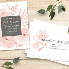 Watercolor Floral Save the Date wedding invitation by Minted Artist Jill Means