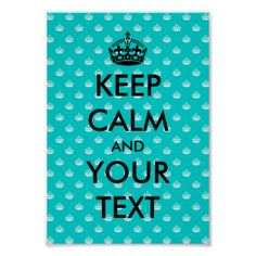 Keep calm poster template with crown pattern keep calm and call cyndi lol