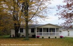 Front Porch On Ranch House | After : The addition of a front porch certainly increases the charm ...