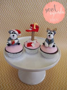 Christmas Cupcakes  Schnauzer puppies and Santa's letterbox  Gallery