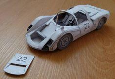 Porsche 906 (Carrera 6) Paper Car Ver.2 0 - 1:24 Scale Paper Model Free Download