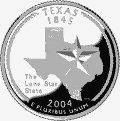 Learn about the Texas 50 State Quarter. Access Texas official state symbols with description and pictures. United States Mint, 50 States, State Quarters, Nation State, Lone Star State, Commemorative Coins, Money Makers, School Stuff, Texas