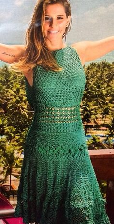 crochet dress by Giovana Dias