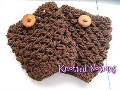 Woven Puffs Boot Cuffs ~ free pattern ᛡ