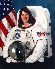 Kathryn Thornton. The first woman to fly on a military space mission on the Space Shuttle Discovery. Thornton also became the second woman to walk in space in 1992. Dr. Thornton retired from NASA in 1996 to join the faculty of the University of Virginia.