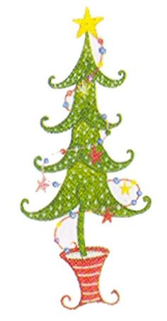 Lolli Tree Christmas Funky Machine Embroidery by StitchMeUp1, $3.99