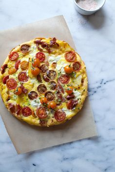 Cherry Tomato, Prosciutto, and Ricotta Frittata (RECIPE)