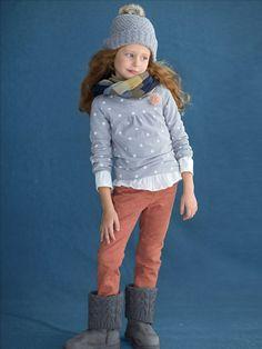 #Bonnet et tour de cou 2 en 1 + T-shirt stretch manches longues + Pantalon slim morpho fin - Collection automne hiver 2014 - www.vertbaudet.fr