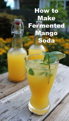 Fermented mango soda is like drinking a mango but in a light and refreshing form. Add some lime and mint and you've got yourself one amazing summer drink.