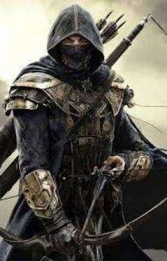 m Ranger med armour Longbow Cape Sword medlvl The Elder Scrolls Online: Tamriel Unlimited Dark Fantasy Art, Fantasy Artwork, Fantasy Kunst, Fantasy Rpg, Medieval Fantasy, Arte Ninja, Ninja Kunst, Ninja Art, The Elder Scrolls