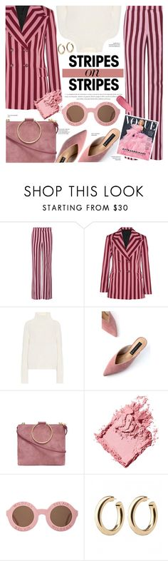 """Pastels & Stripes"" by chocolate-addicted-angel ❤ liked on Polyvore featuring AlexaChung, Burberry, Steven, Thacker, Bobbi Brown Cosmetics and Wildfox"