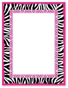 Zebra Print Border | Bordas | Pinterest | Zebra Print and Zebras