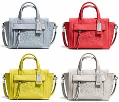 BLEECKER MINI RILEY CARRYALL IN LEATHER Brand: Coach  Buy it, Borderlinx will ship it to you.  http://www.borderlinx.com/