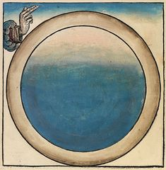 First day of creation ~ from the 1493 Nuremberg Chronicle (mandala)