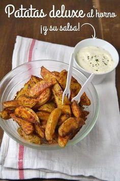 Cuuking!: Patatas deluxe al horno ¡Y su salsa! Más