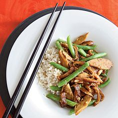 Seitan Stir-Fry with Black Bean Garlic Sauce | Cooking Light.  Read the one review for some good tips -- she says the recipe as written is too salty and you could cut the black bean sauce and cornstarch in half.