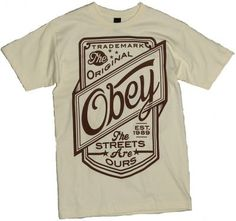 Obey The Streets Are Ours Basic Tee Natural  £24.95