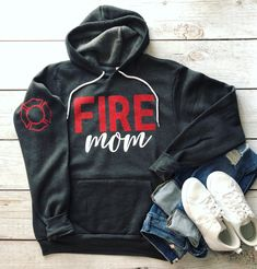 Custom T Shirt Printing, Custom Shirts, Firefighter Mom, Mom Shirts, Hoodies, Sweatshirts, Couple, My Style, Circuit Projects