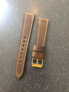 Custom Horween leather watch strap from  922Leather.comm