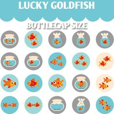 Lucky Goldfish 02098  Printable Circle 1.313 inch by blessedgrafik