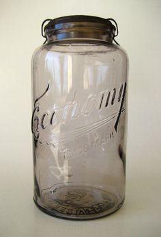 LRG 1903 Purple Kerr Economy Jar Antique Vtg Canning 2 Quart Lid Bottle | eBay