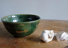 Arrow Bowl  Dark Green Ceramic Bowl by AtelierPetit on Etsy, $22.00