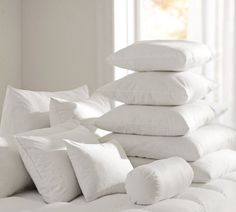 "Pottery Barn Pillow Inserts Delectable Freshness Assured™ Feather Pillow Insert 22"" Sq Feather Pillows 2018"