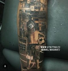 See Neymar's new leg tattoo of street footballer 'with big dreams' - http://www.thelivefeeds.com/see-neymars-new-leg-tattoo-of-street-footballer-with-big-dreams/