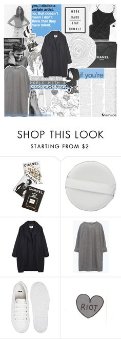 """""""-- you talk way too much"""" by feels-like-snow-in-september ❤ liked on Polyvore featuring Alöe, Chanel, Assouline Publishing, MM6 Maison Margiela, ASOS, TalisLittleTag, gottatagrandomn3ss and DestinyHasBeenSummoned"""