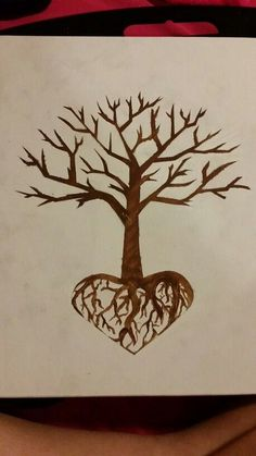 Tree with heart roots